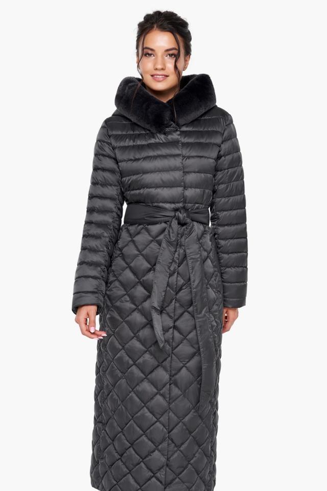 """Женская куртка графитовая оригинальная модель 31012 Braggart """"Angel's Fluff"""" фото 4"""