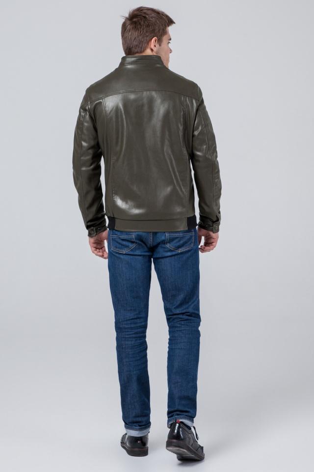 """Кожаная стильная куртка цвет хаки модель 1588 Braggart """"Youth"""" фото 5"""