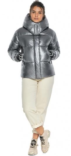 """Женская куртка комфортная осенне-весення цвет серебро модель 44520 Braggart """"Angel's Fluff"""" фото 1"""