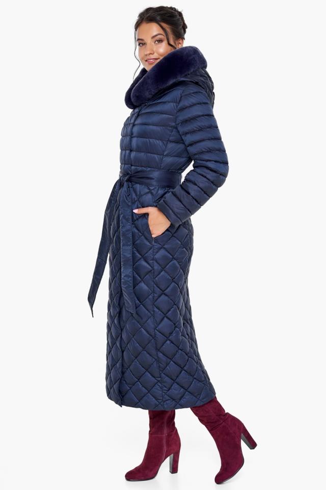 """Длинная синяя куртка женская модель 31012 Braggart """"Angel's Fluff"""" фото 3"""