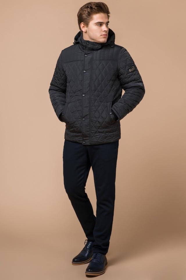 """Куртка стандартной длины зимняя мужская графитовая модель 24534 Braggart """"Dress Code"""" фото 2"""