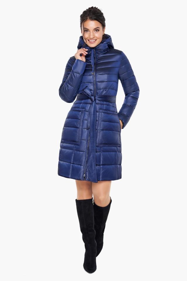 """Сапфировая куртка на змейке женская модель 31845 Braggart """"Angel's Fluff"""" фото 2"""