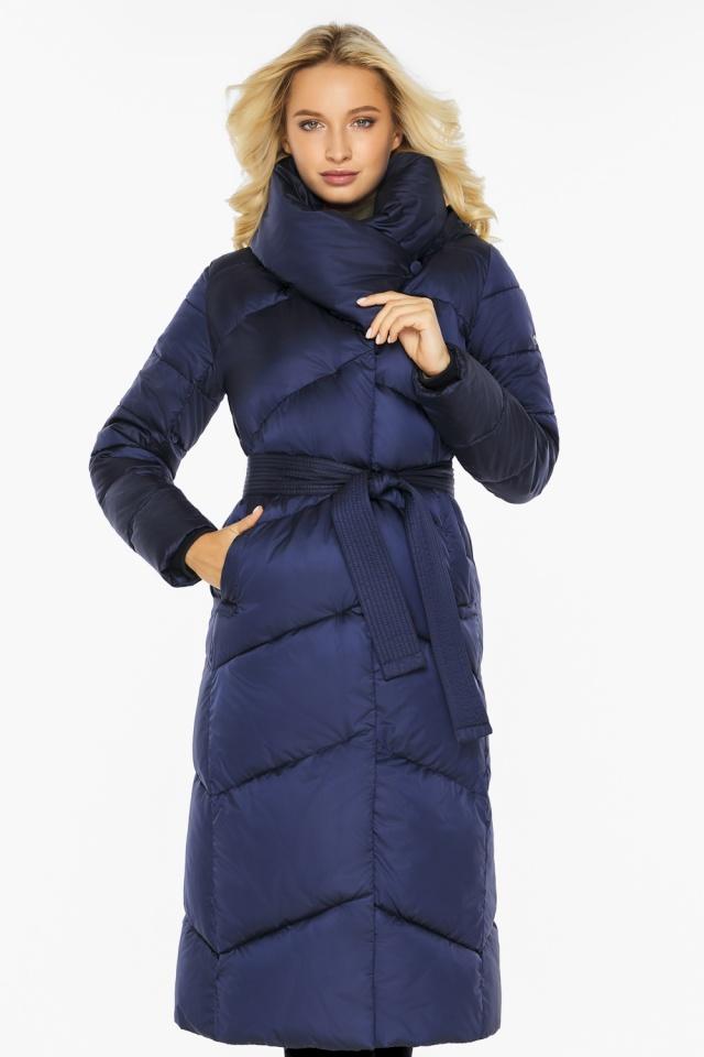 """Куртка с воротником женская цвет синий бархат модель 47260 Braggart """"Angel's Fluff"""" фото 3"""