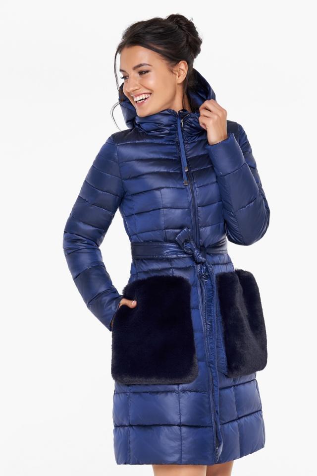 """Сапфировая куртка на змейке женская модель 31845 Braggart """"Angel's Fluff"""" фото 6"""
