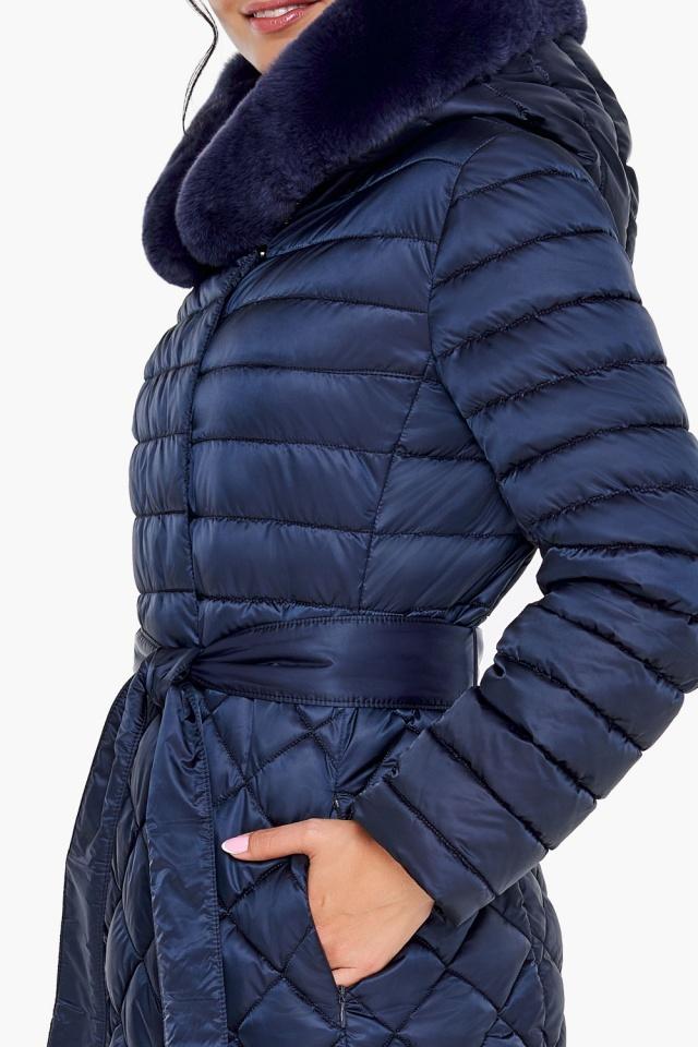 """Длинная синяя куртка женская модель 31012 Braggart """"Angel's Fluff"""" фото 7"""