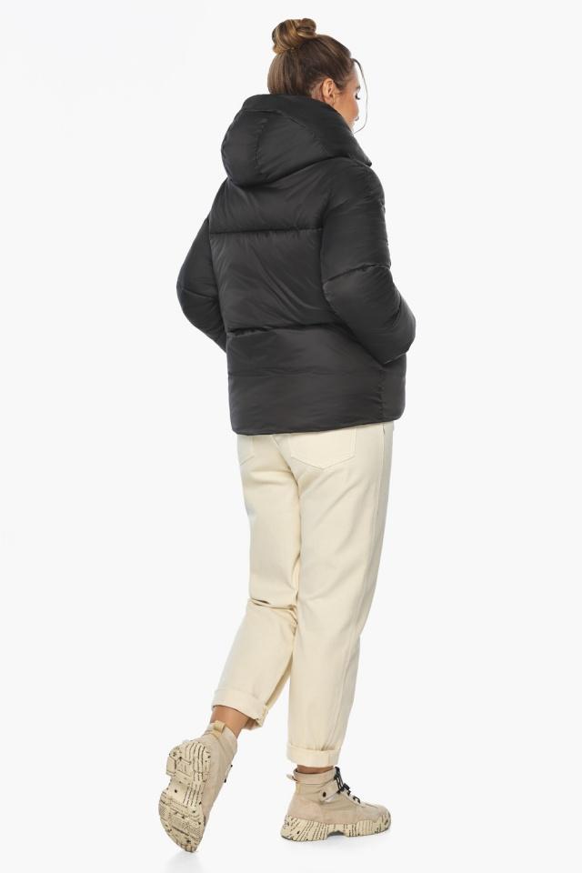 """Куртка с воротником чёрная зимняя женская модель 41975 Braggart """"Angel's Fluff"""" фото 5"""