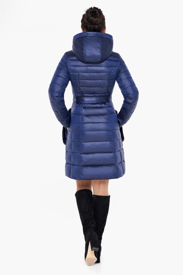 """Сапфировая куртка на змейке женская модель 31845 Braggart """"Angel's Fluff"""" фото 7"""