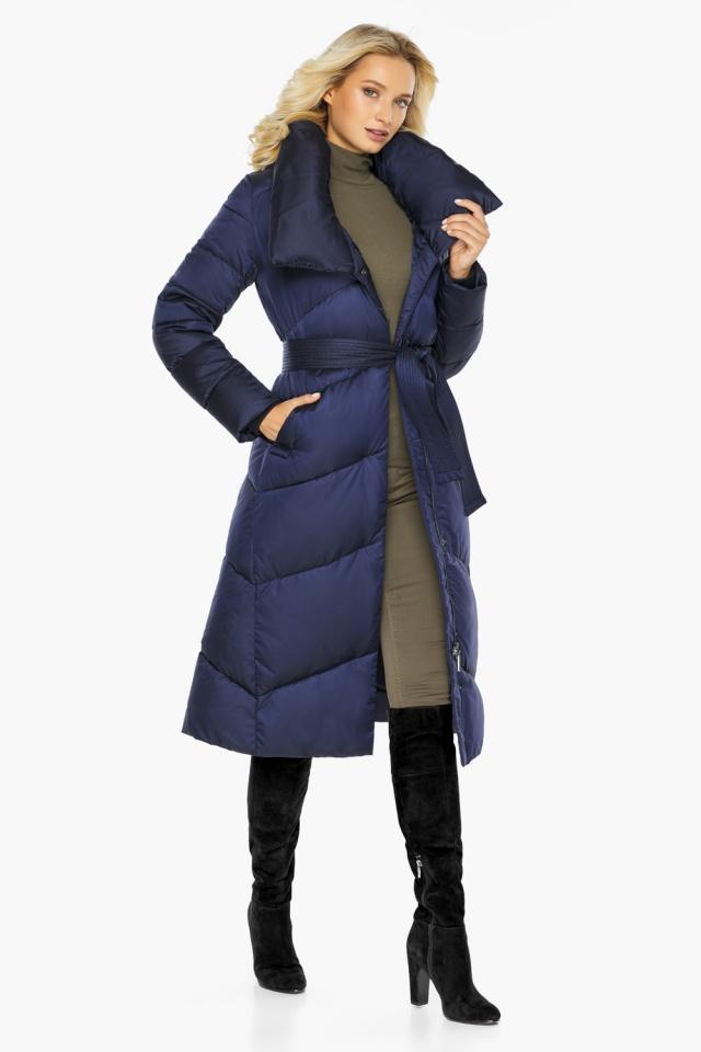 """Куртка с воротником женская цвет синий бархат модель 47260 Braggart """"Angel's Fluff"""" фото 2"""