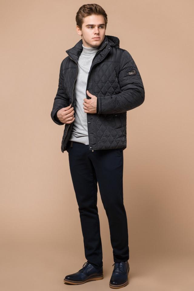 """Куртка стандартной длины зимняя мужская графитовая модель 24534 Braggart """"Dress Code"""" фото 3"""