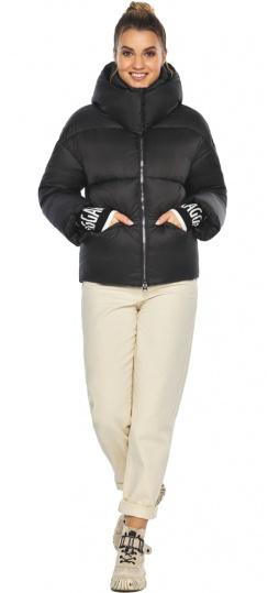 """Куртка с воротником чёрная зимняя женская модель 41975 Braggart """"Angel's Fluff"""" фото 1"""