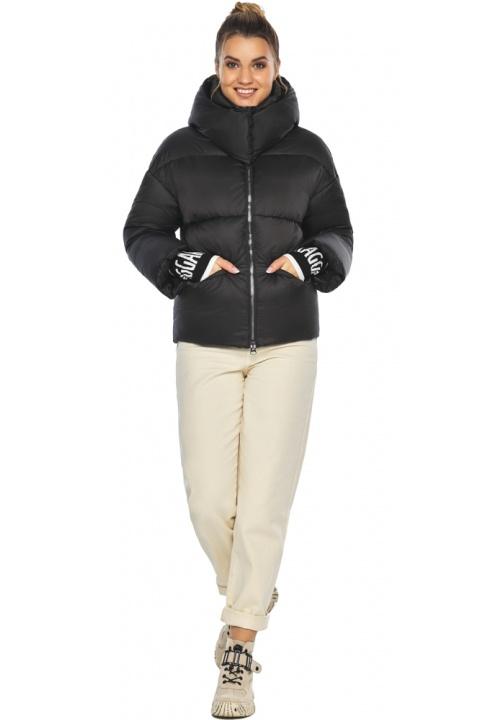 """Куртка з коміром чорна зимова жіноча модель 41975 Braggart """"Angel's Fluff"""" фото 1"""