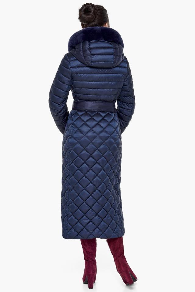 """Длинная синяя куртка женская модель 31012 Braggart """"Angel's Fluff"""" фото 6"""