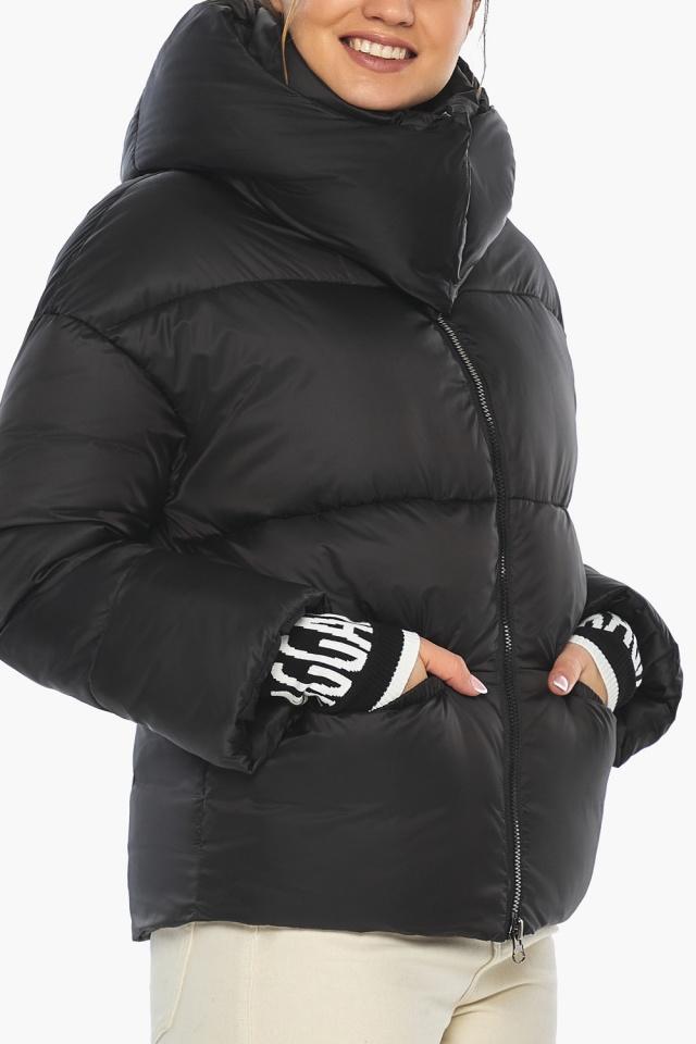 """Куртка с воротником чёрная зимняя женская модель 41975 Braggart """"Angel's Fluff"""" фото 6"""