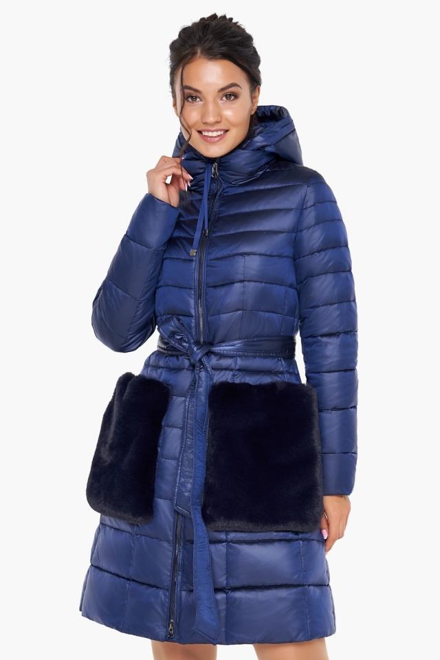 """Сапфировая куртка на змейке женская модель 31845 Braggart """"Angel's Fluff"""" фото 5"""