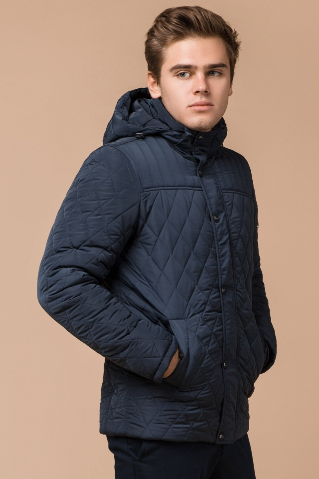 "Светло-синяя куртка для мужчин зимняя теплая модель 24534 Braggart ""Dress Code"" фото 4"