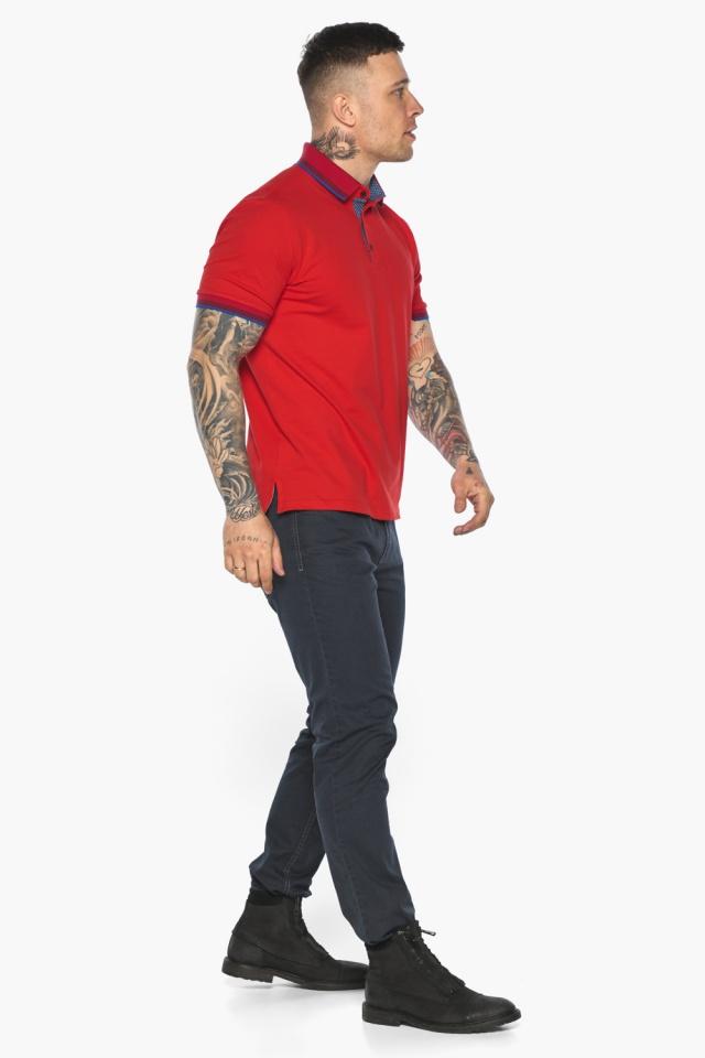 Красная мужская футболка поло удобная модель 5765 Braggart фото 5