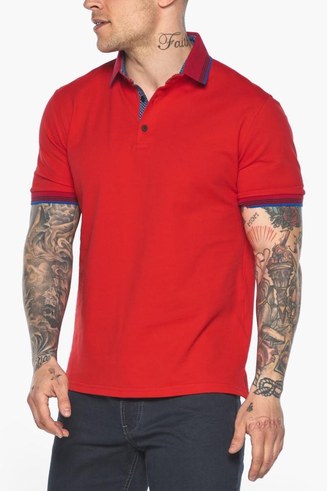 Красная мужская футболка поло удобная модель 5765 Braggart фото 8