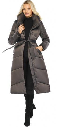 """Капучиновая куртка женская с брендовой фурнитурой модель 47260 Braggart """"Angel's Fluff"""" фото 1"""