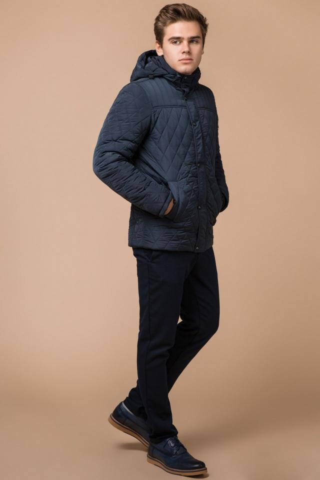 "Светло-синяя куртка для мужчин зимняя теплая модель 24534 Braggart ""Dress Code"" фото 3"