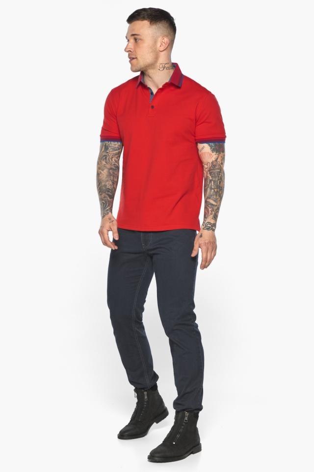Красная мужская футболка поло удобная модель 5765 Braggart фото 4