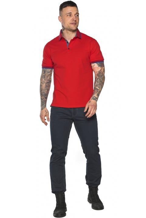 Червона чоловіча футболка поло зручна модель 5765 Braggart фото 1