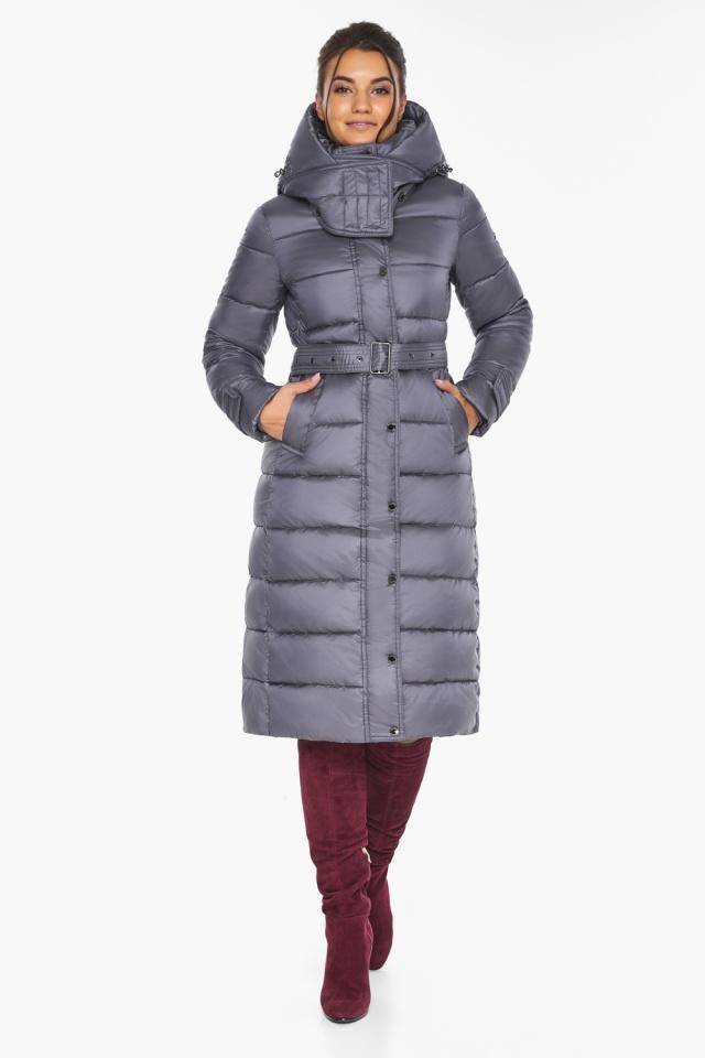 """Жемчужно-серая куртка женская на зиму модель 43110 Braggart """"Angel's Fluff"""" фото 2"""