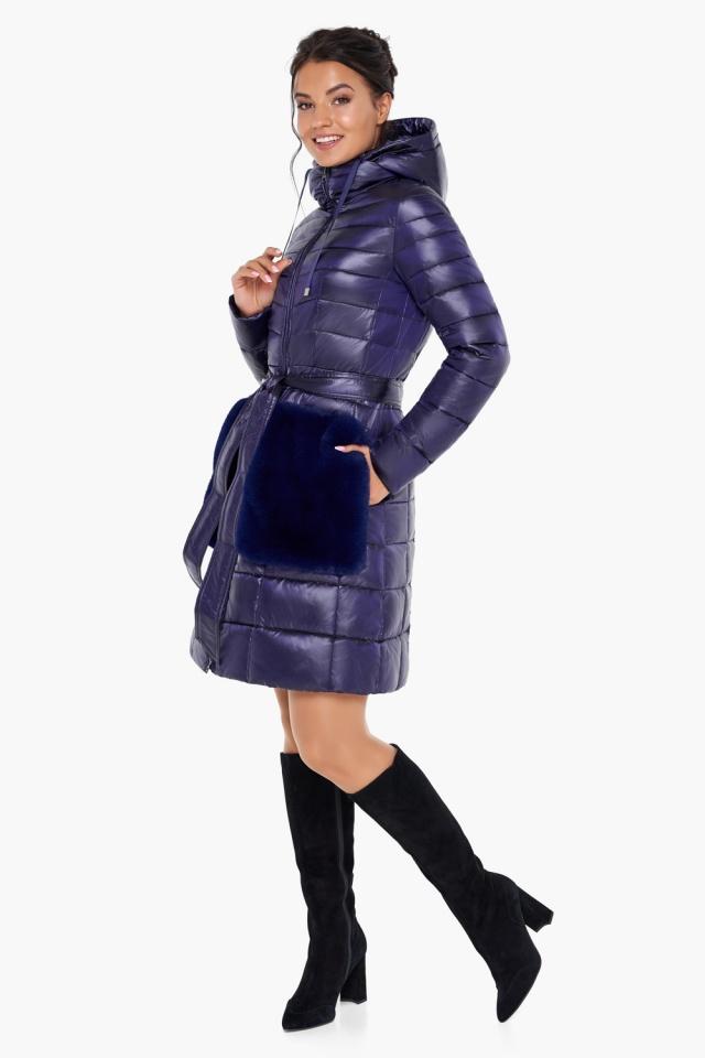 """Куртка с кулиской фиолетовая женская модель 31845 Braggart """"Angel's Fluff"""" фото 4"""