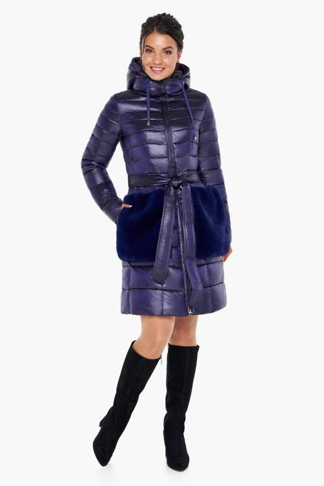 """Куртка с кулиской фиолетовая женская модель 31845 Braggart """"Angel's Fluff"""" фото 5"""