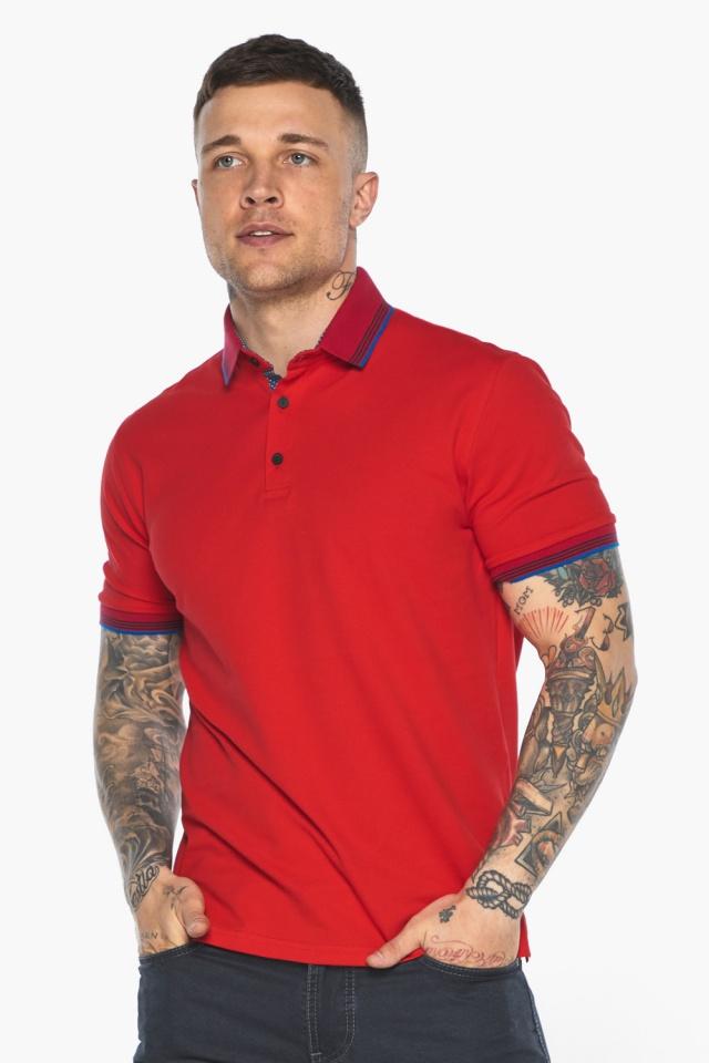 Красная мужская футболка поло удобная модель 5765 Braggart фото 3