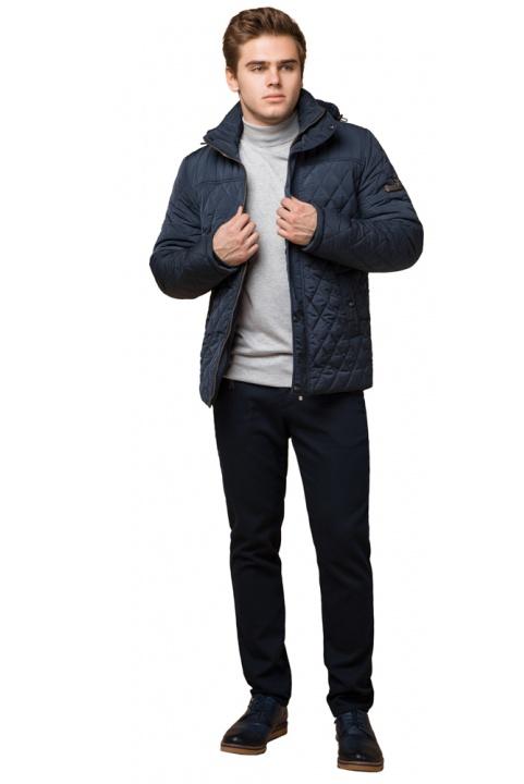 "Светло-синяя куртка для мужчин зимняя теплая модель 24534 Braggart ""Dress Code"" фото 1"