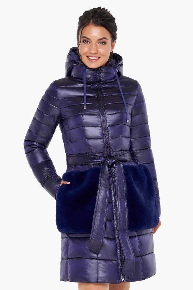 """Куртка с кулиской фиолетовая женская модель 31845 Braggart """"Angel's Fluff"""" фото 3"""