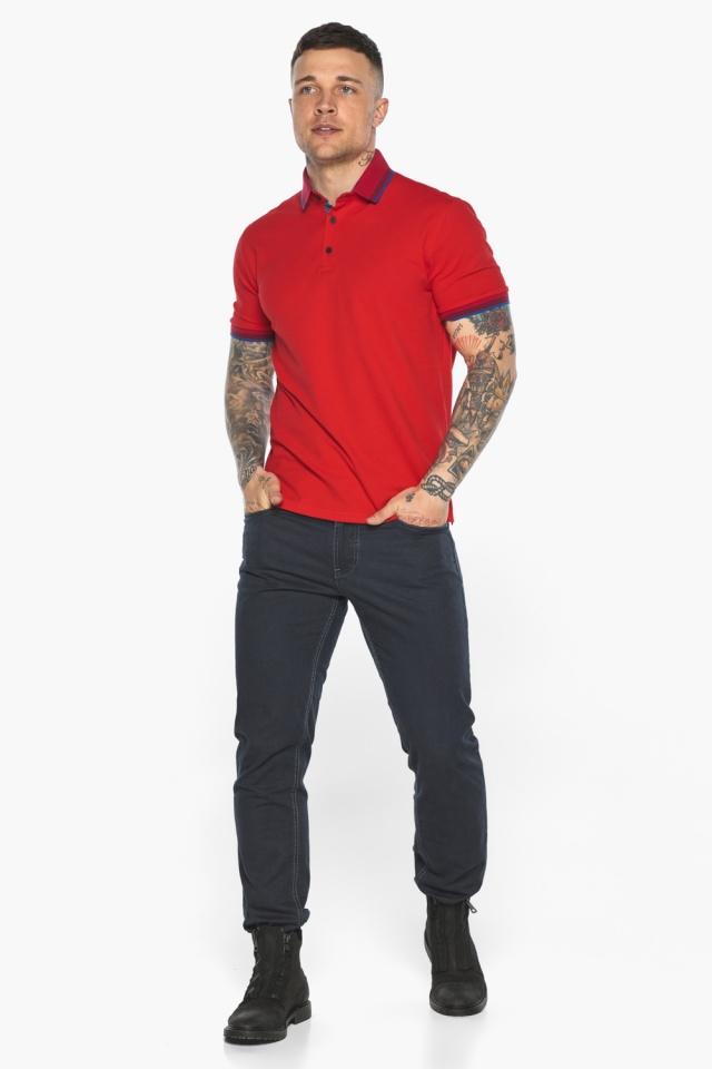 Красная мужская футболка поло удобная модель 5765 Braggart фото 6