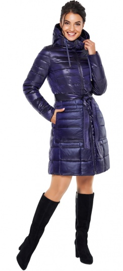 """Куртка с кулиской фиолетовая женская модель 31845 Braggart """"Angel's Fluff"""" фото 1"""
