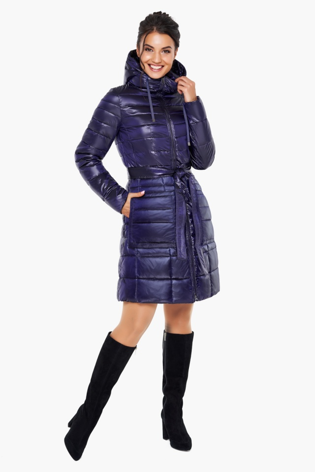 """Куртка с кулиской фиолетовая женская модель 31845 Braggart """"Angel's Fluff"""" фото 2"""