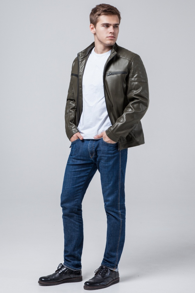 "Осенне-весенняя мужская куртка цвета хаки модель 3645 Braggart ""Youth"" фото 2"