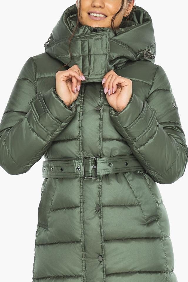 """Зимняя оливковая куртка женская модель 43110 Braggart """"Angel's Fluff"""" фото 9"""