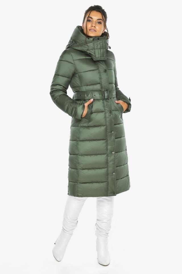 """Зимняя оливковая куртка женская модель 43110 Braggart """"Angel's Fluff"""" фото 2"""