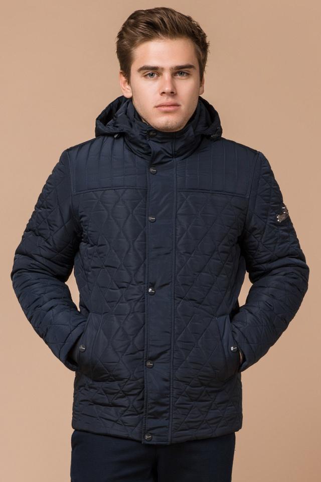 """Зимняя синяя мужская куртка на молнии модель 24534 Braggart """"Dress Code"""" фото 4"""