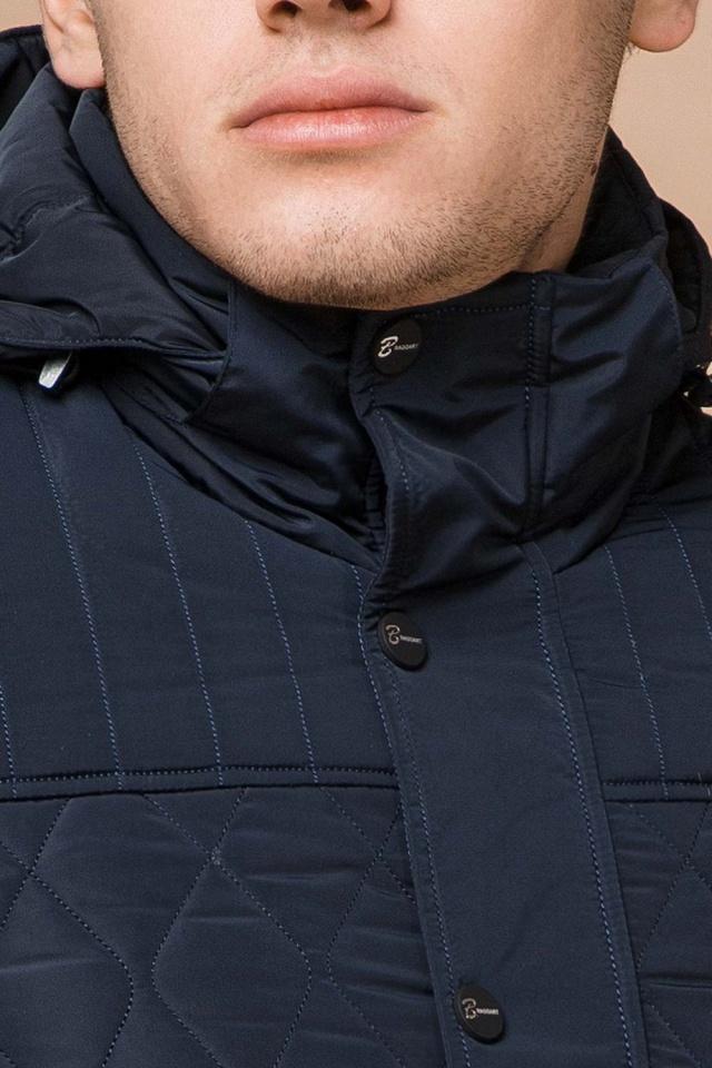 """Зимняя синяя мужская куртка на молнии модель 24534 Braggart """"Dress Code"""" фото 6"""