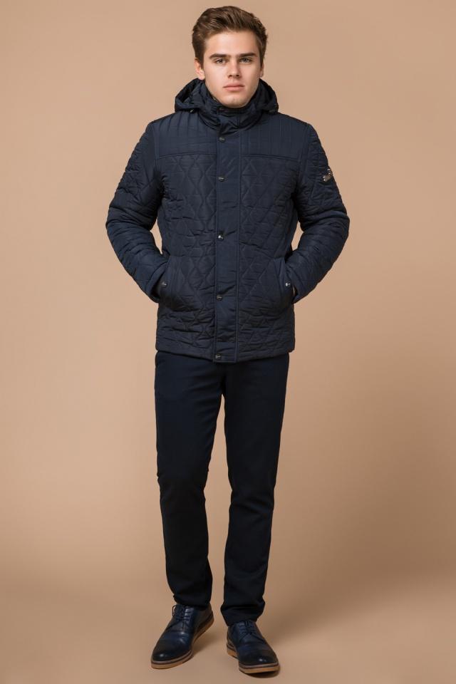"""Зимняя синяя мужская куртка на молнии модель 24534 Braggart """"Dress Code"""" фото 2"""