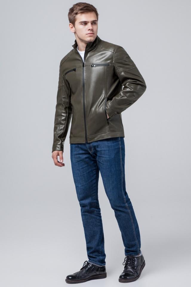 """Осінньо-весняна чоловіча куртка кольору хакі модель 3645 Braggart """"Youth"""" фото 4"""