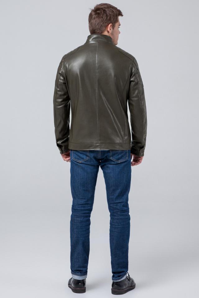 Непродуваемая куртка осенне-весенняя молодежная мужская цвета хаки модель 3645