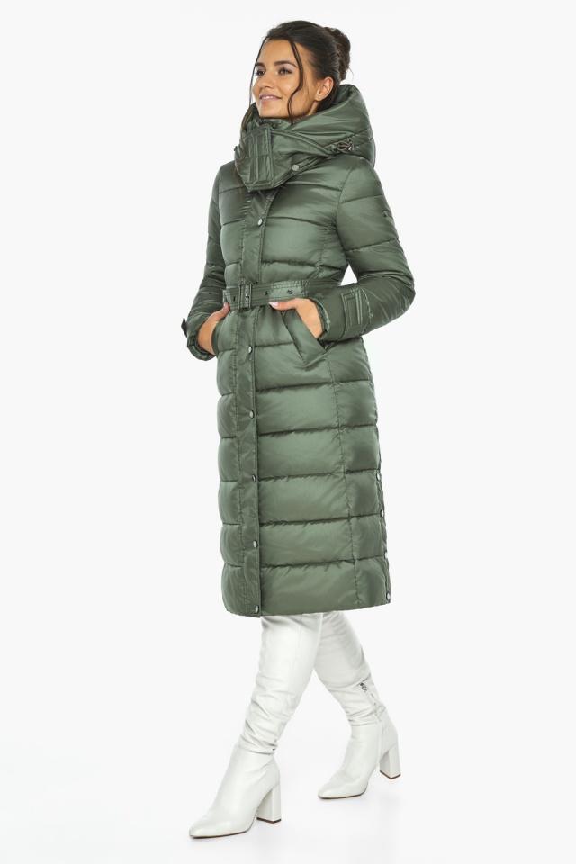 """Зимняя оливковая куртка женская модель 43110 Braggart """"Angel's Fluff"""" фото 7"""