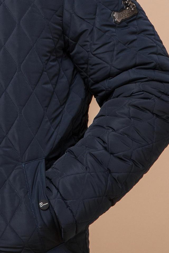 """Зимняя синяя мужская куртка на молнии модель 24534 Braggart """"Dress Code"""" фото 7"""
