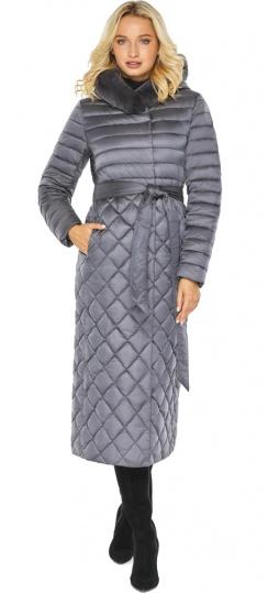 """Жемчужно-серая комфортная куртка женская модель 31012 Braggart """"Angel's Fluff"""" фото 1"""