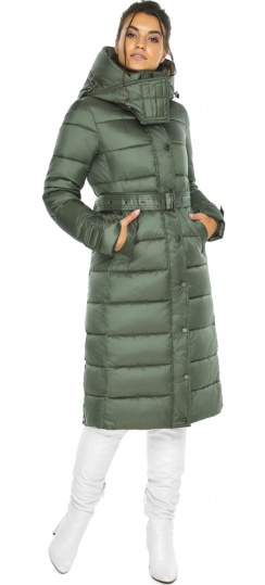 """Зимняя оливковая куртка женская модель 43110 Braggart """"Angel's Fluff"""" фото 1"""