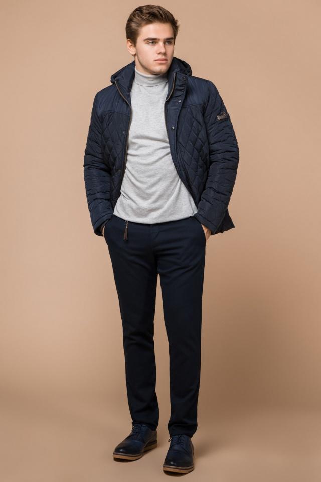 """Зимняя синяя мужская куртка на молнии модель 24534 Braggart """"Dress Code"""" фото 3"""