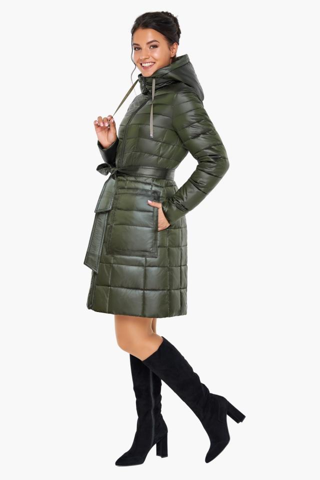 """Куртка женская оригинальная цвет темный хаки модель 31845 Braggart """"Angel's Fluff"""" фото 2"""