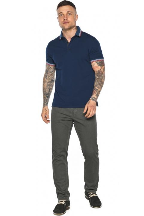 Трендовая мужская синяя футболка поло модель 5720 Braggart фото 1