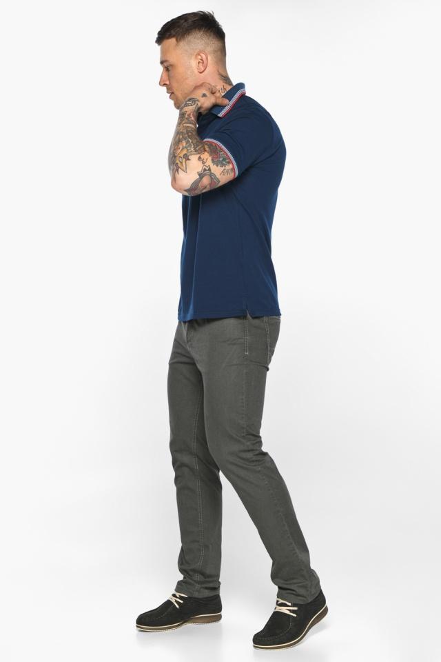Трендовая мужская синяя футболка поло модель 5720 Braggart фото 5